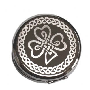 Personalised Irish Shamrock Compact Mirror
